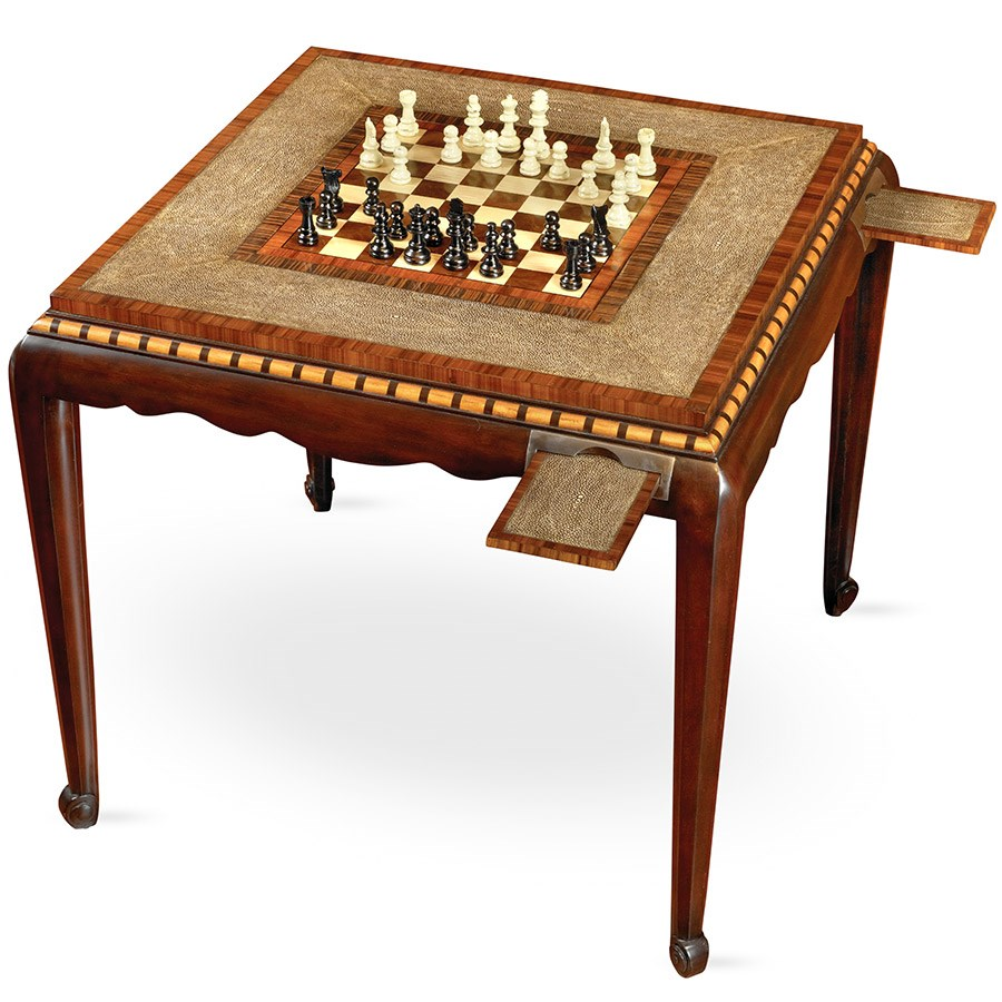 Rosewood and Mahogany Game Table More Tables