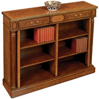 Walnut and Yew Open Bookcase