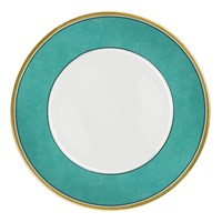 Porcelain Dinnerware Set, Turquoise and Gold