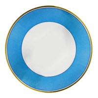 Porcelain Dinnerware Set, Sky Blue and Gold