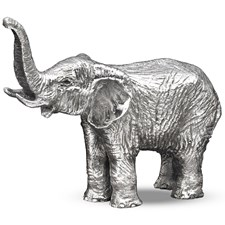 Silverplated Bronze Elephant