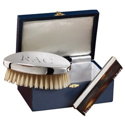 Sterling Silver Military Brush Set
