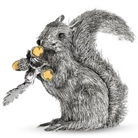 Sterling Silver and Gold Vermeil Squirrel