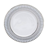 Philippe Deshoulieres Arcades Gray and Platinum Dinner Plate