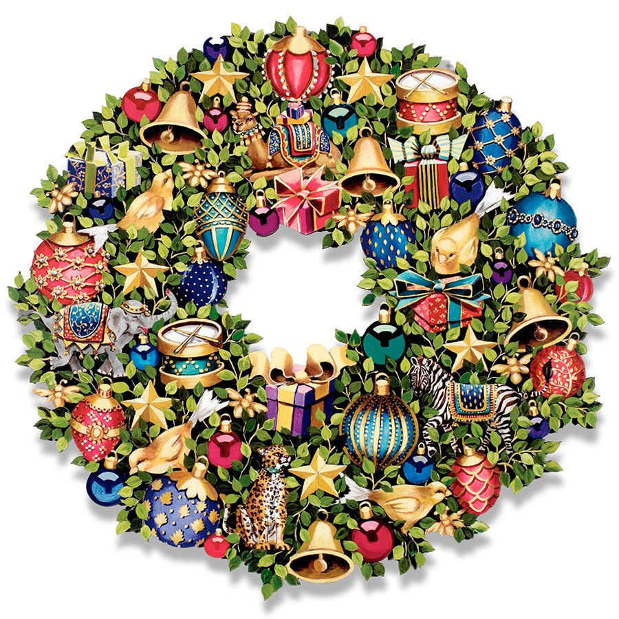 Trompe L Oeil Christmas Wreath