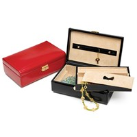 Leather Jewelry Boxes (Assorted Colors)