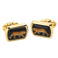 Halcyon Days Tigers Enamel Cufflinks