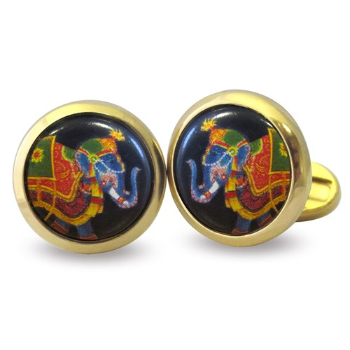 Halcyon Days Indian Elephant Cufflinks