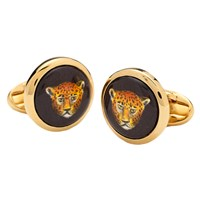 Halcyon Days Leopard Head Cufflinks