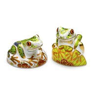 Royal Crown Derby Frog Paperweights