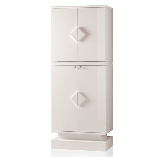 Armoured Jewelry Safe, White