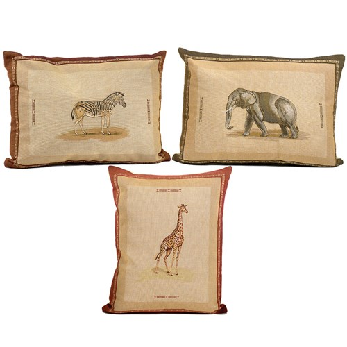 African Animal Tapestry Pillows
