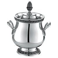 Christofle Malmaison Silver Plated Covered Sugar Bowl