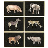 African Wildlife Glass Placemats