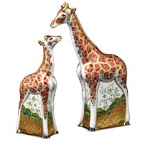 Royal Crown Derby Giraffe Paperweights