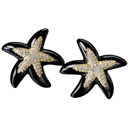 Black Onyx Starfish Earrings