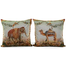 Decorated Animal Tapestry Pillows