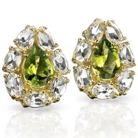 Peridot Pear-Shaped Earrings