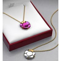 Baccarat Flower Necklaces