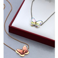Baccarat Butterfly Necklaces