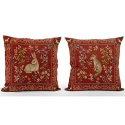 Medieval Animal Tapestry Pillows