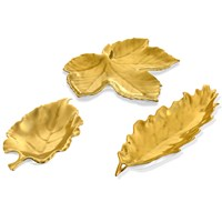 William Yeoward Gold Leaf Dishes
