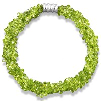 Peridot Cluster Necklace