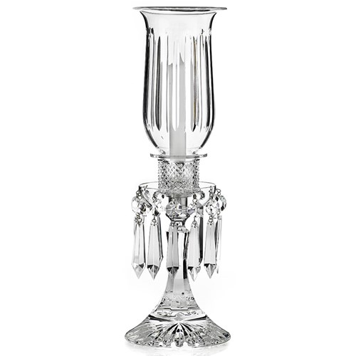 "Saint-Louis Crystal ""Tommy"" Hurricane Candlestick"