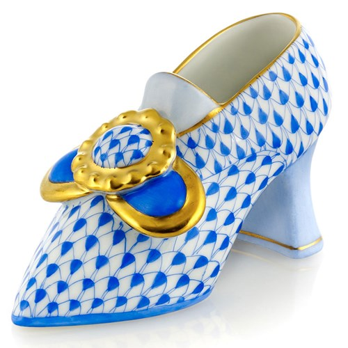 Herend Shoe with Buckle, Sapphire