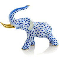 Herend Sapphire Charging Elephant