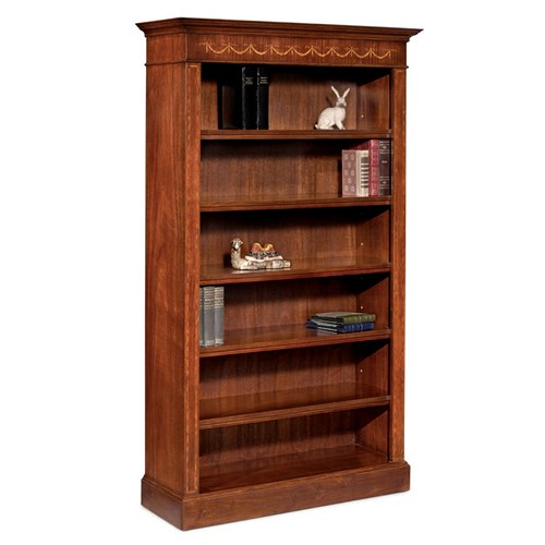 Mahogany Bookcase with Marquetry Inlay