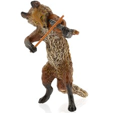 Austrian Bronze Fox with Violin Figurine