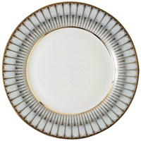 Philippe Deshoulieres Arcades Gray and Gold Rim Soup Plate