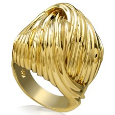 18k Yellow Gold Swirling Knot Ring