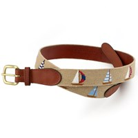 Petitpoint Sailboat Belt