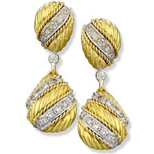 Twist Rope Drop Earrings