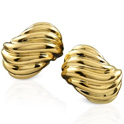18k Gold Groove Earrings