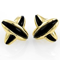 "Onyx and Gold ""X"" Jewelry"