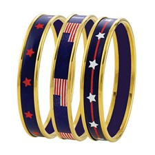 Halcyon Days Patriotic on Blue Bangles