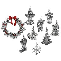 Sterling Silver Italian Christmas Ornaments