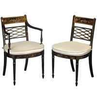 Mahogany Chinoiserie Chairs