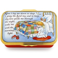 "Halcyon Days ""Now I Lay Me Down to Sleep"" Enamel Box"
