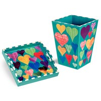Love Wastebasket and Tray