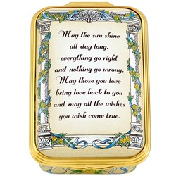 "Halcyon Days ""May the Sun Shine All Day Long..."" Enamel Box"