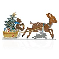 Pewter Fawn Pulling Sled