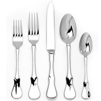 "Ricci Argentieri Stainless Steel ""Violino"" Two-Piece Salad Set"