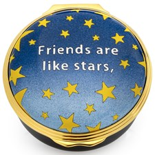 "Halcyon Days ""Friends are Like Stars"" Enamel Box"