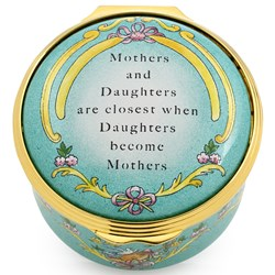 "Halcyon Days ""Mothers and Daughters are Closest"" Enamel Box"