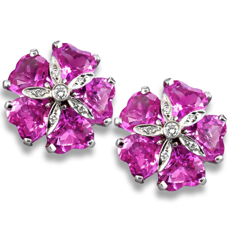 Pink topaz sand dollar earrings more earrings earrings for Dollar jewelry and more
