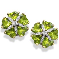 Peridot Sand Dollar Earrings